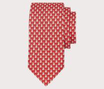 Puppies print silk tie