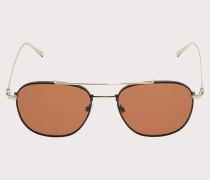 Sonnenbrille Glänzend Goldfarben/