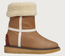 Padded Gancini boot Beige