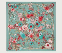 Silk printed scarf with wind roses