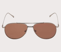 Sonnenbrille Glänzend Metallgrau