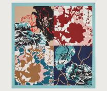 Seidentuch mit Blumen Print