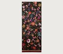 Tree of life print silk scarf