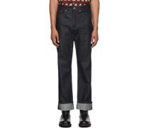 Raw Contrast Stitch Jeans