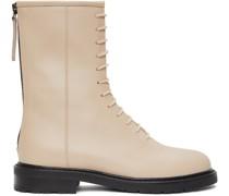 Leather Combat Stiefel