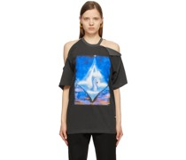 Graphic Cut-Out Tshirt