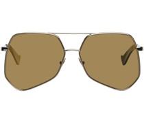 Megalast Hexagonal Aviator Sonnenbrille