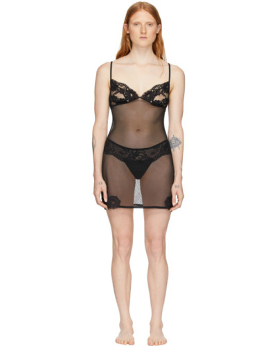Lace Triangle Sheer Kleid