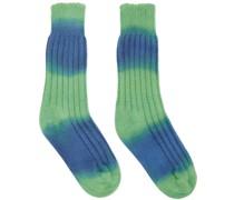 & Cashmere Block Dye Yosemite Kniestrümpfe/Socken/Strümpfe