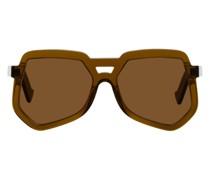 Clip Hexagonal Aviator Sonnenbrille