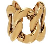 Chain & Skull Ring