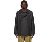 Double-Breasted Wool & Cashmere Jacke