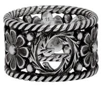Large Interlocking G Flower Ring