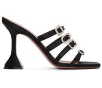 Satin Robyn Slipper Heeled Sandale