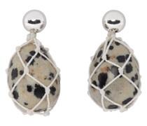 Dalmatian Bead Drop Ohrring