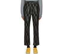 Wool Checkered Hose