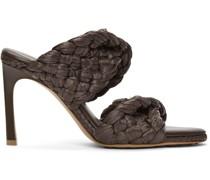 Raffia 'The Curve' Heeled Sandale