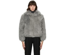 Shearling Cropped Bomber