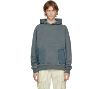 Cold-Dye Panelled Hoodie