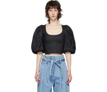 Cropped Sleeve Bluse