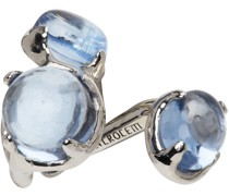 & Topaz Droplet Single Ohrschmuck