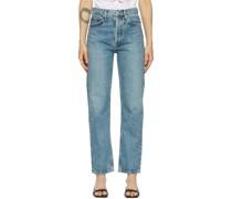 90s Pinch Waist High-Rise Straight Jeans