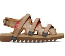 Tan ZIP-3 Sandale
