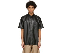 Vegan Leather Adam Short Sleeve Hemd