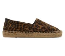 Suede Leopard Espadrille