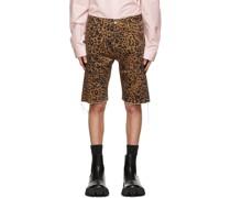 Leopard e Couture Shorts