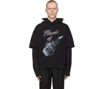 My Own Private Planet ge Guitar Double Layer Hoodie