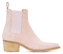 Suede Pointy Toe Chelsea Stiefel