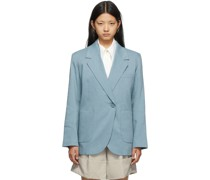 Asymmetric Linen Blazer