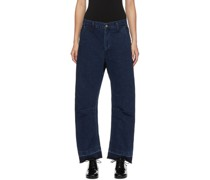 U-Gusset Wide Jeans