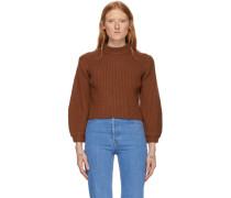 Merino Rib Slit Neck Pullover Pullover