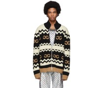Wool Mirrored GG Zip-Up Pullover