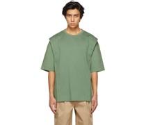 Jersey & Poplin Side Slit Tshirt