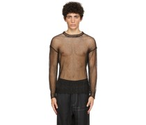 Knit Mesh Rundhals Pullover