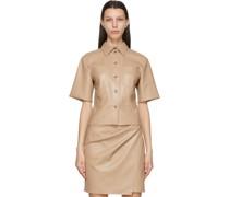 Vegan Leather Sabine Short Sleeve Hemd