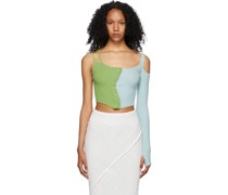 & Knit Asymmetrical Button-Up Tank Top