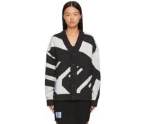 Jacquard Knit Oversized Cardigan