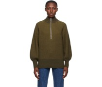 Wool Delaney Zip Up Pullover