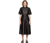 Leather Placket Kleid