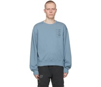 My Own Private Planet Distressed Paneled Sweatshirt