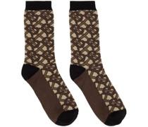 Intarsia Monogram Socke