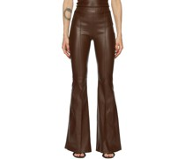 Leather Pintuck Flare Hose