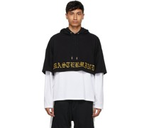& Boxy Two Material Hoodie