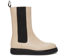 Leather Mid-Calf Chelsea Stiefel