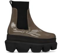Patent Leather Platform Chelsea Stiefel