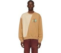 Tan Two-Tone Split City Sweatshirt